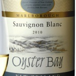 Oyster Bay Sauvignon Blanc 2010 Label